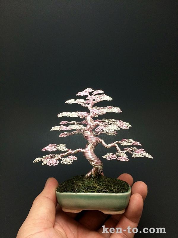 Pink Silver Wire Bonsai Tree By Ken To By Kentoart On Deviantart
