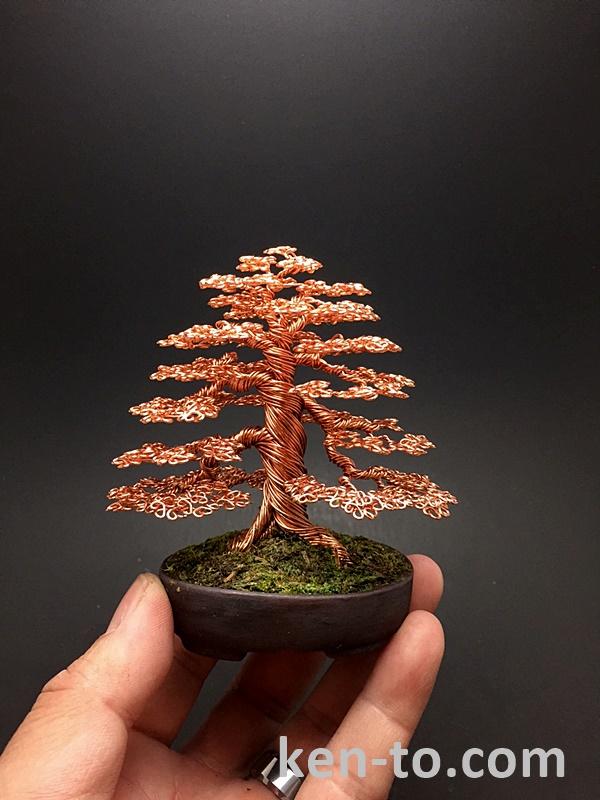 Formal upright wire bonsai tree by Ken To by KenToArt