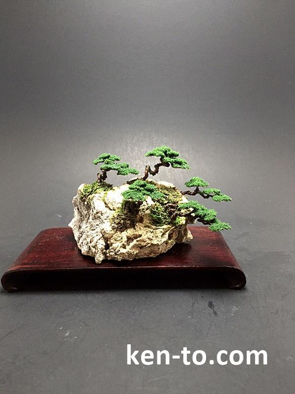 Mame Wire bonsai rock planting by Ken To by KenToArt