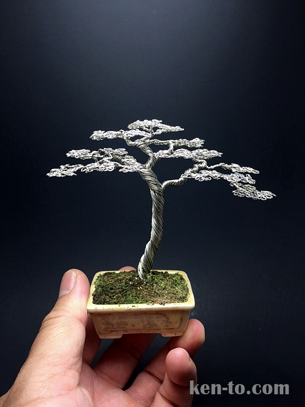 Pierneef style wire bonsai tree by Ken To by KenToArt