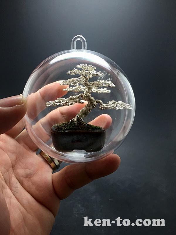 Silver mame wire bonsai tree by Ken To by KenToArt