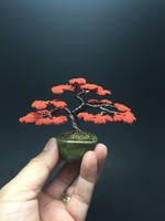 Autumn wire bonsai tree by Ken To by KenToArt