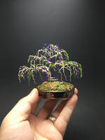 Weeping wire Mardi Gras bonsai by Ken To by KenToArt