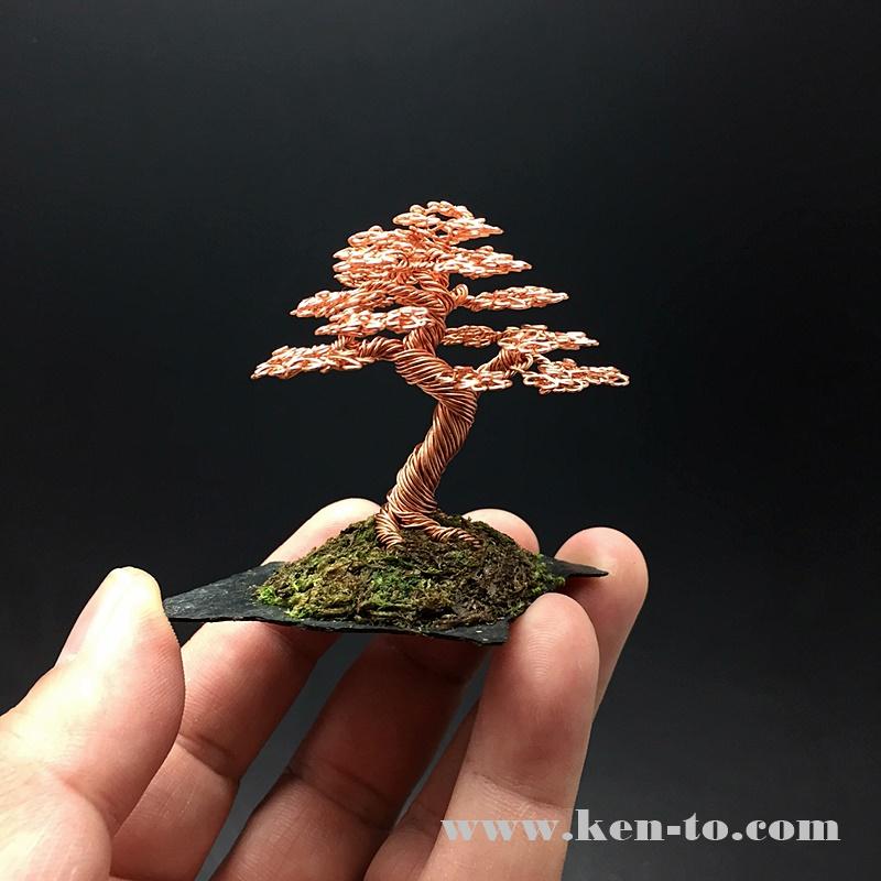 Copper Wire Bonsai Tree On Slab By Ken To By Kentoart On Deviantart