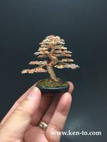 3-color wire bonsai tree by Ken To by KenToArt