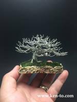 Creepy wire bonsai tree by Ken To by KenToArt