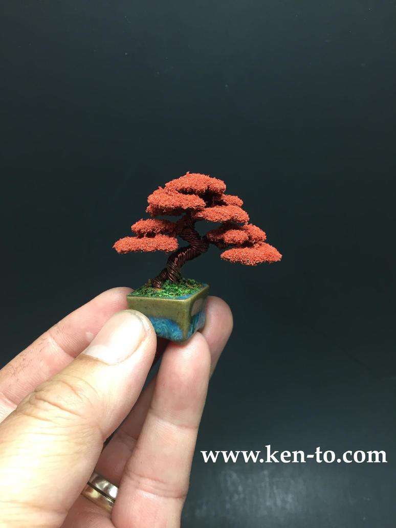 small autumn wire bonsai tree by ken to by kentoart on deviantart rh deviantart com Bonsai Wiring Tips Japanese Bonsai Trees