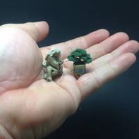 Micro flocked wire bonsai by Ken To by KenToArt