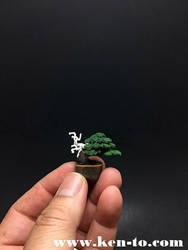 Micro flocked wire bonsai tree by Ken To by KenToArt