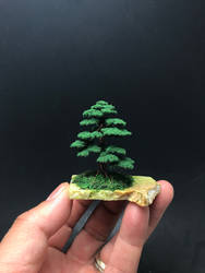 Flocked mame wire bonsai tree by Ken To