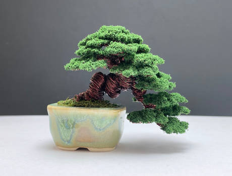 Mame flocked wire bonsai tree by Ken To