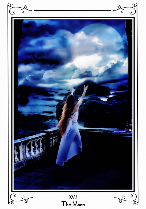 Tarot Deck: XVIII The Moon by LadyShamisen