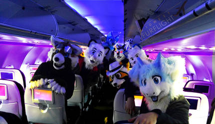 Furries on a Plane by MikeFolf