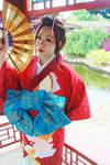 Geisha in Red... by dewmelen