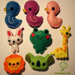 Felt brooches-AnimalCollection
