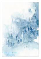 Hazy forest by Nuri7
