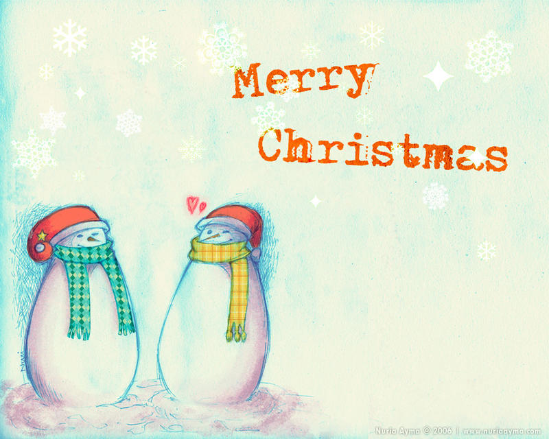 Snowman's Love, High Quality Christmas Wallpaper