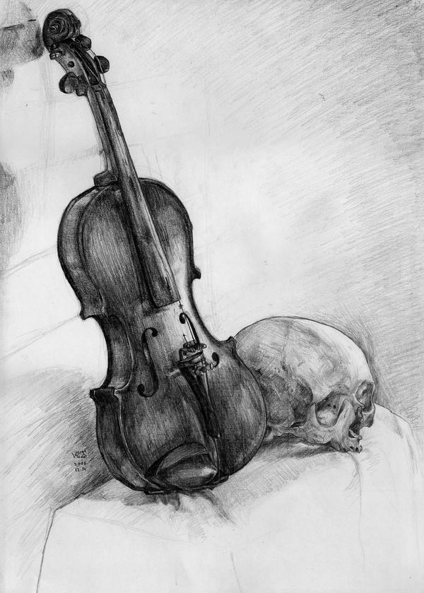 Violin with Skull by VTomi on DeviantArt