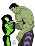 Hulk and Shego- Emerald Bond- by CallMePo
