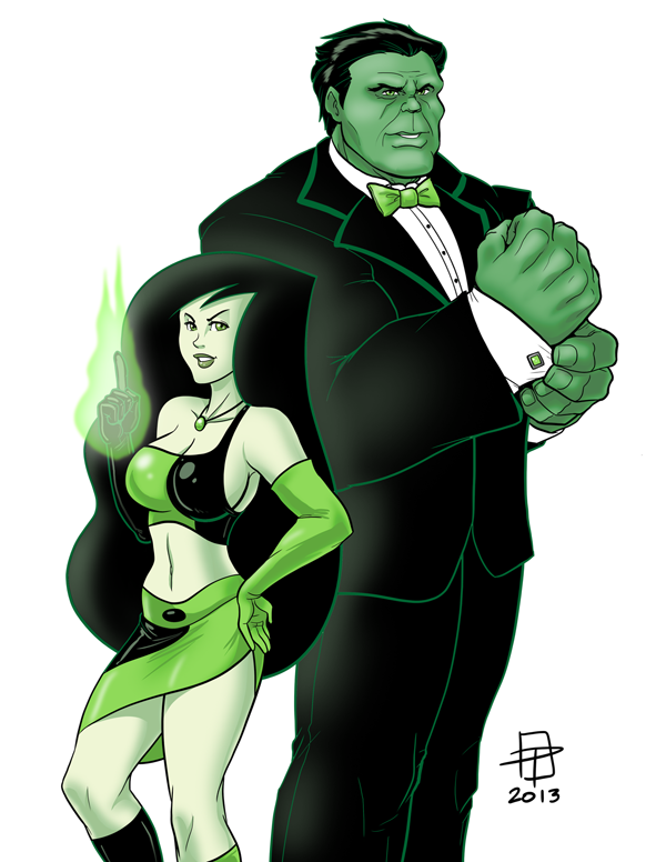 The Spy Who Smashed Me- Hulk and Shego- CallMePo by GorillaKing18