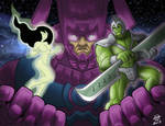 Heralds of Galactus- Hulk and Shego- By CallMePo