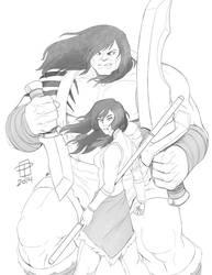 Skaar: Son of Hulk and Avatar Korra- By CallMePo