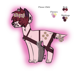 Flower Child 5 Point Adopt (Closed) by SpiritOfTheMoon1