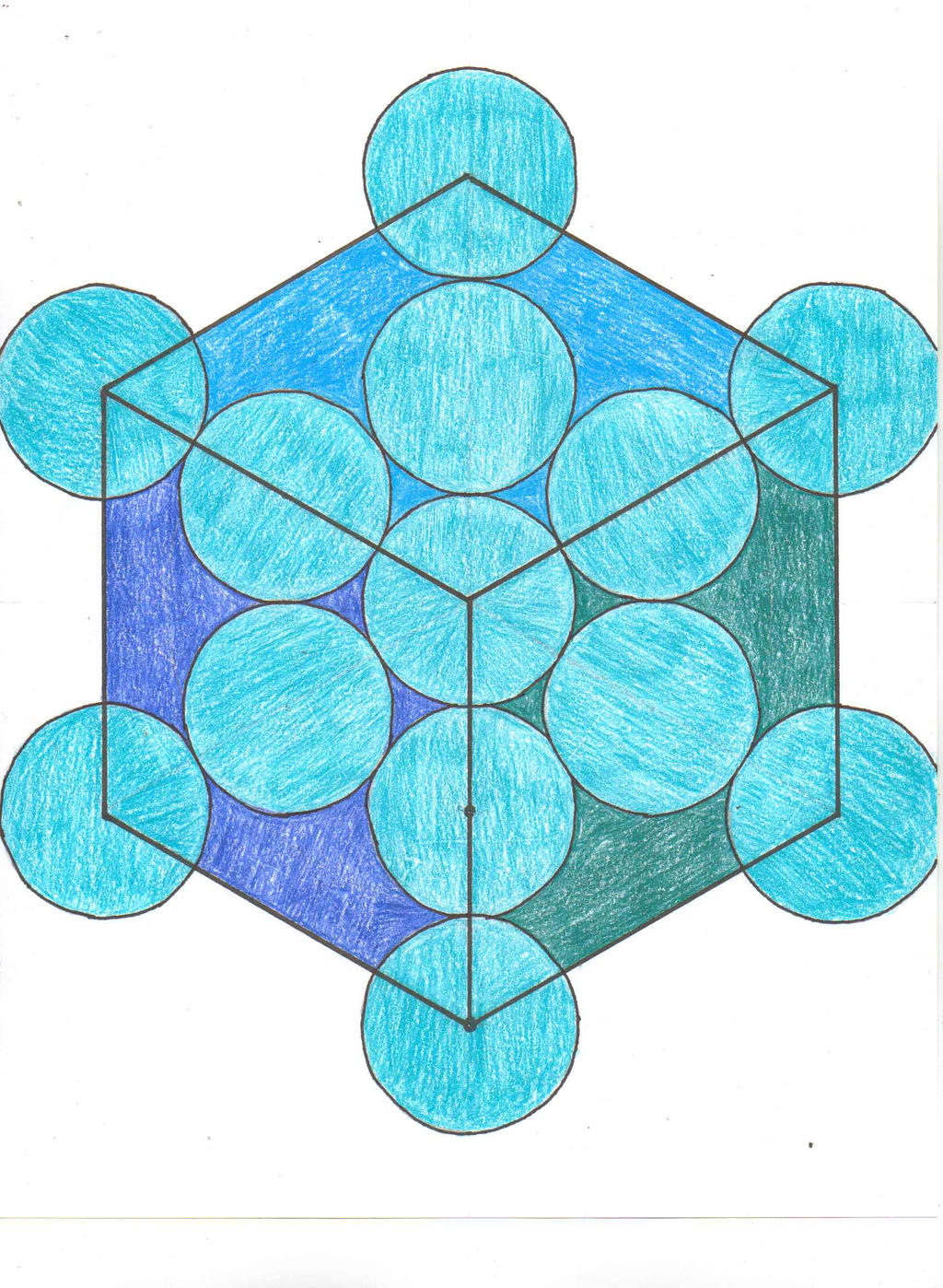 how to draw the metatron cube