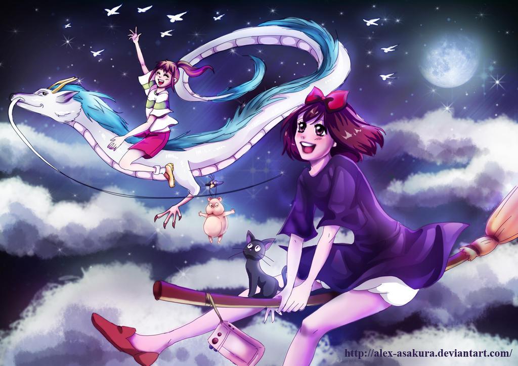 Chihiro and Kiki by Alex-Asakura
