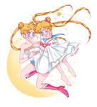 Sailor Moon and Serenity