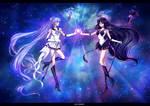 Sailor Nemesis and Sailor Astera by Alex-Asakura