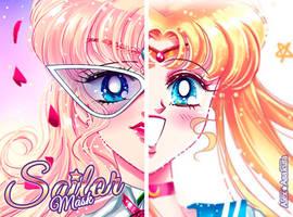 Sailor Mask and Sailor Moon by Alex-Asakura