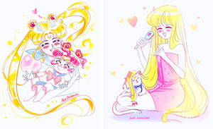 Usa and Minako by Alex-Asakura
