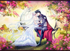 Princess Serenity and Prince Endymion by Alex-Asakura