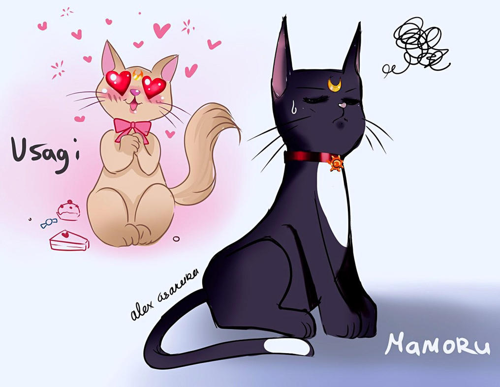 Usagi and Mamoru - cats by Alex-Asakura