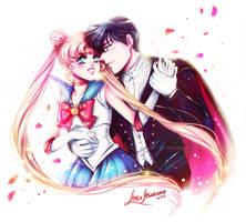 Sailor Moon and Tuxedo Mask by Alex-Asakura
