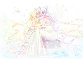 Princess Serenity and Queen by Alex-Asakura