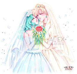 Michiru and Haruka - Wedding