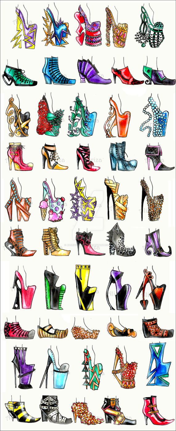 50 Shoe Designs by AlirizaDesign