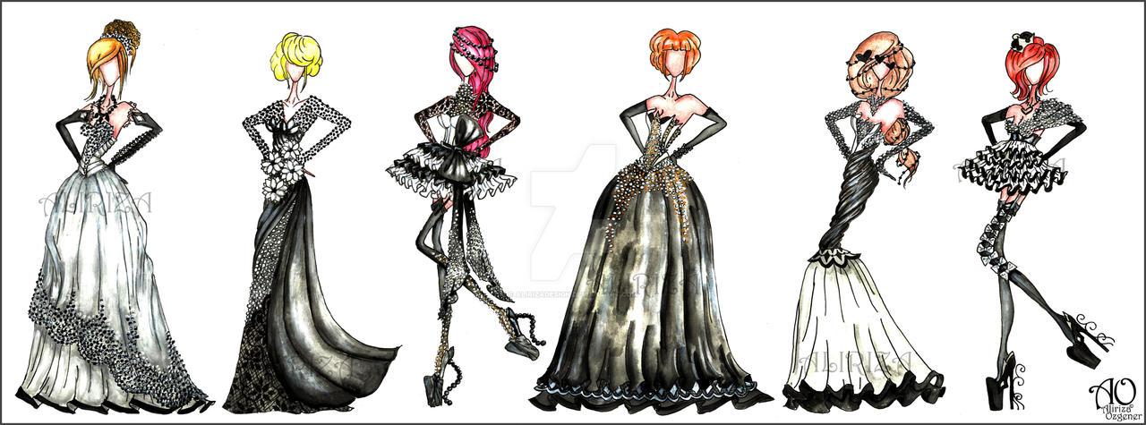 Wedding Dresses by AlirizaDesign