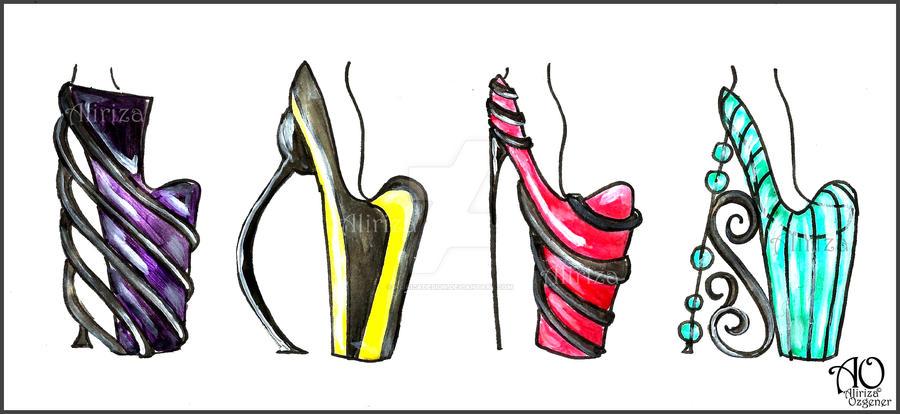 Colour Vs Black Heels by AlirizaDesign