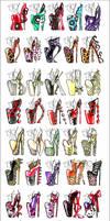 100 Heel Designs