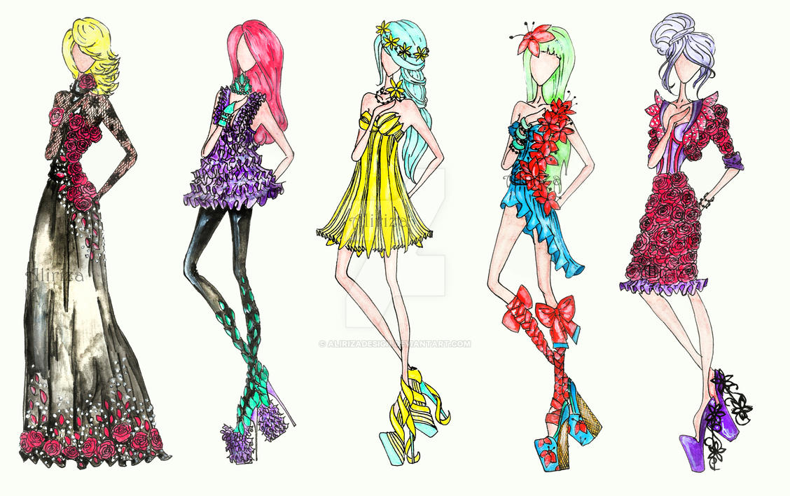 Flower fashion by alirizadesign on deviantart for How to be a fashion designer at 14