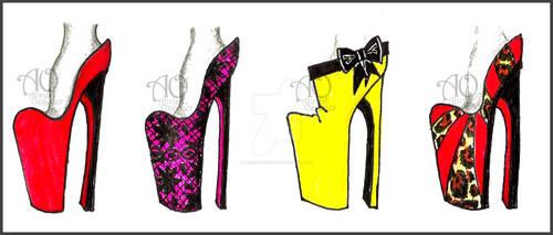 4 Simple Heels by AlirizaDesign