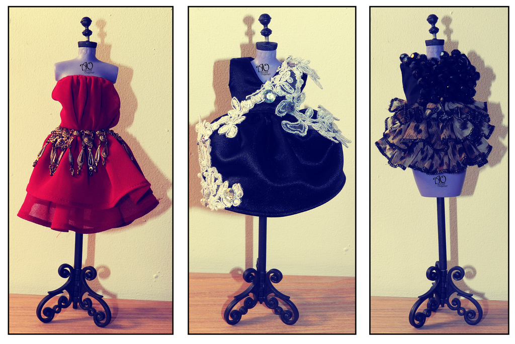 3 Dresses by AlirizaDesign