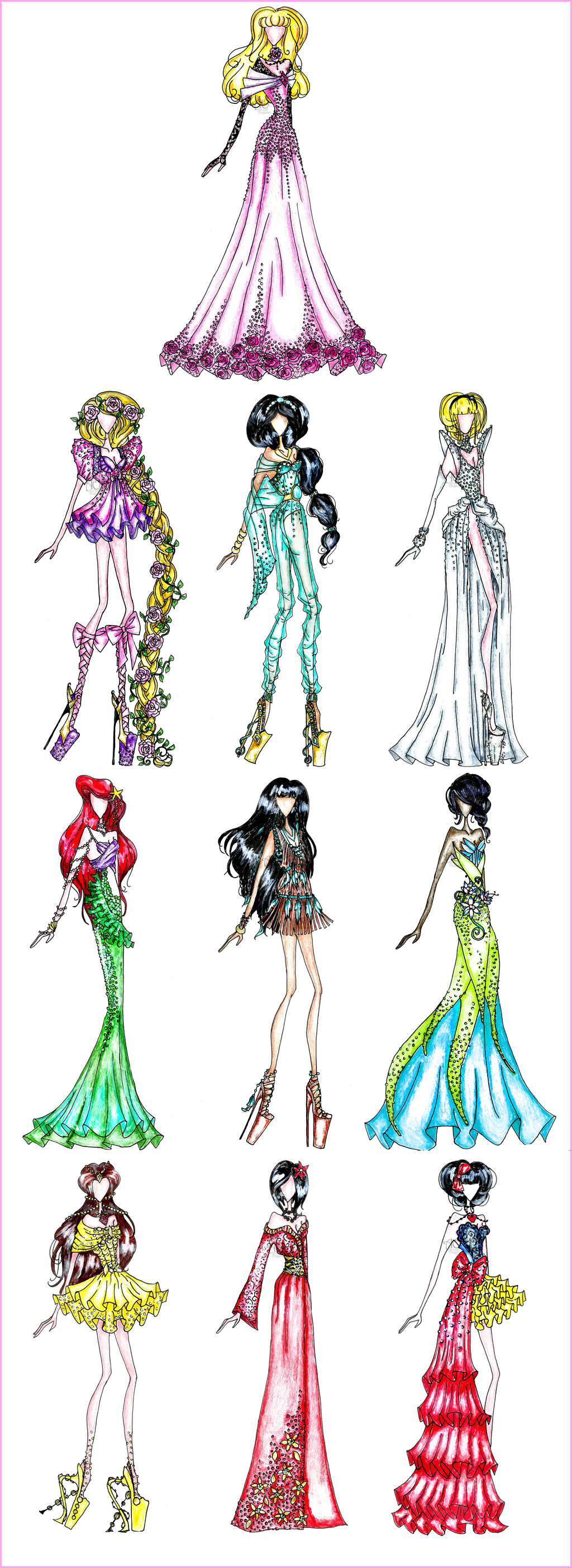 Disney Fashion For Everyone: Disney Princess Fashion By AlirizaDesign On DeviantArt