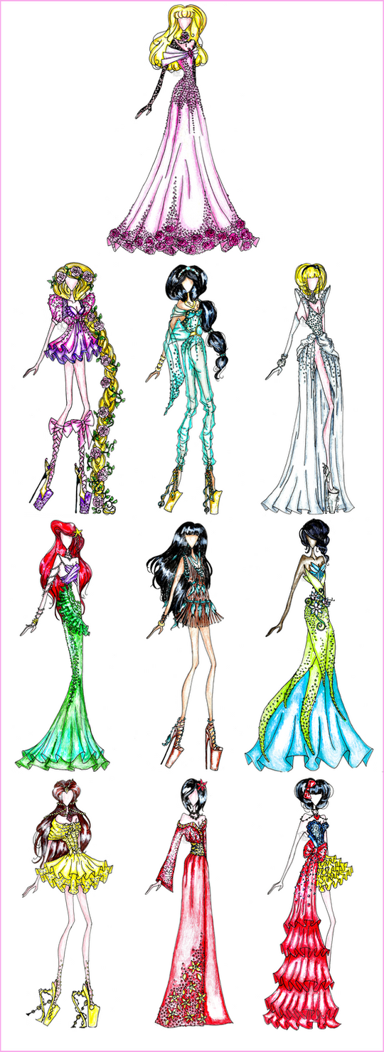 Disney Princess Fashion by AlirizaDesign