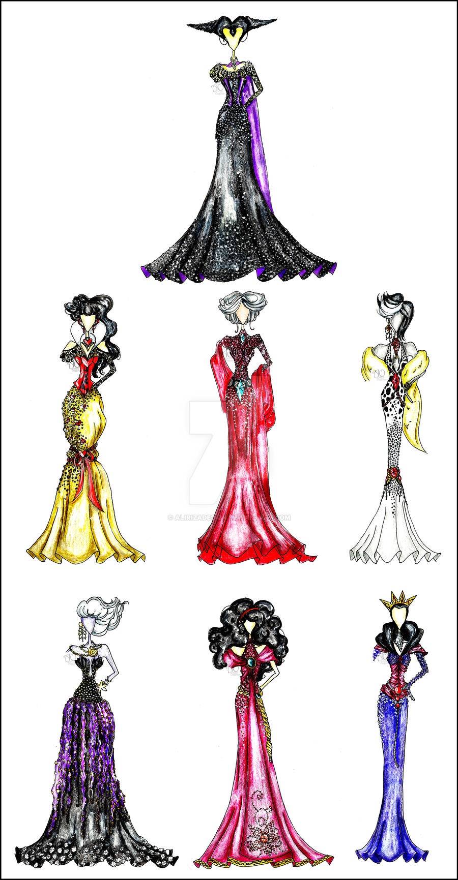 Disney Villain Fashion by AlirizaDesign