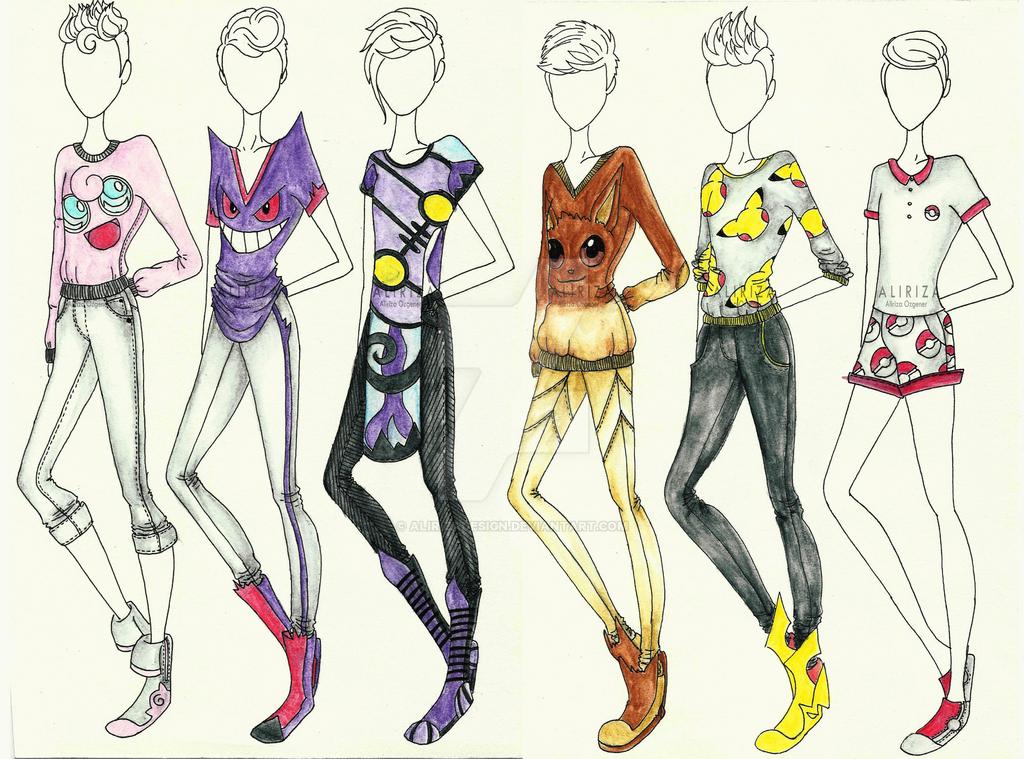 Pokemon Clothing Collection by AlirizaDesign