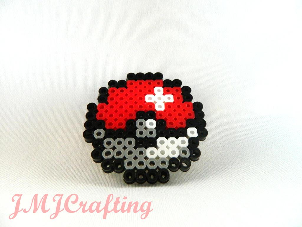 Minecraft perler bead art pokeball perler bead art by
